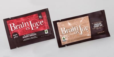 Brain On Joy And Brain In Love Chocolate Bars by Brain MD Health