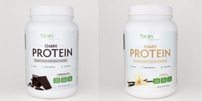 Omni Protein Powder Vanilla And Chocolate by Brain MD Health