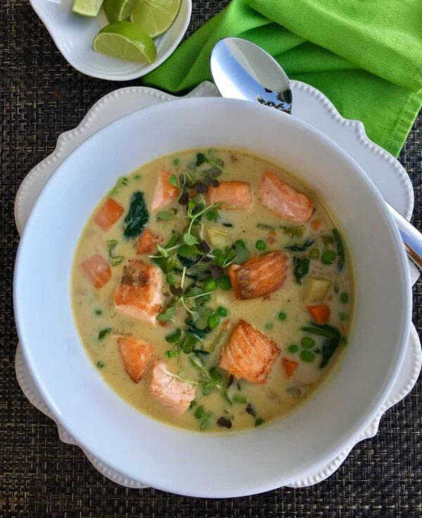 Salmon Curry Chowder by Tana Amen BSN RN