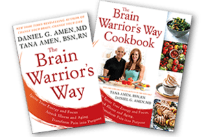 The Brain Warriors Way book bundle by Dr  Daniel Amen and Tana Amen BSN RN