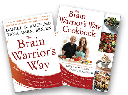 The Brain Warriors Way book and cookbook by Dr Daniel Amen and Tana Amen BSN RN