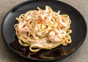 Fettuccine-Alfredo-With-Lemon-Garlic-Shrimp by Tana Amen BSN RN