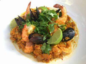 Seafood-Paella-with-Cauliflower-Rice-Sofrito-1